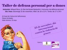 Taller de defensa personal per a dones